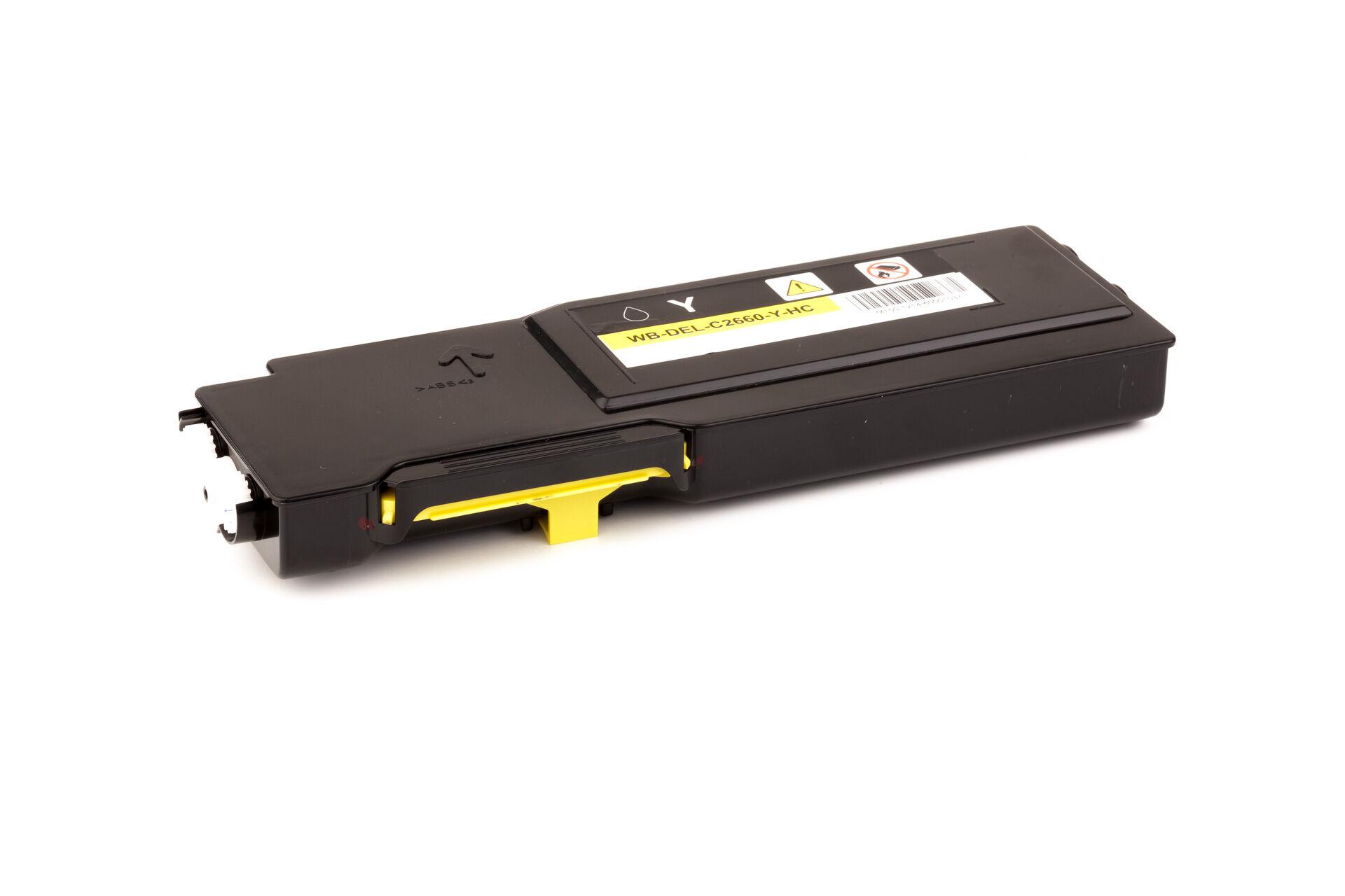 Dell Cartouche de Toner pour Dell 593BBBR / YR3W3 jaune compatible (de marque ASC)