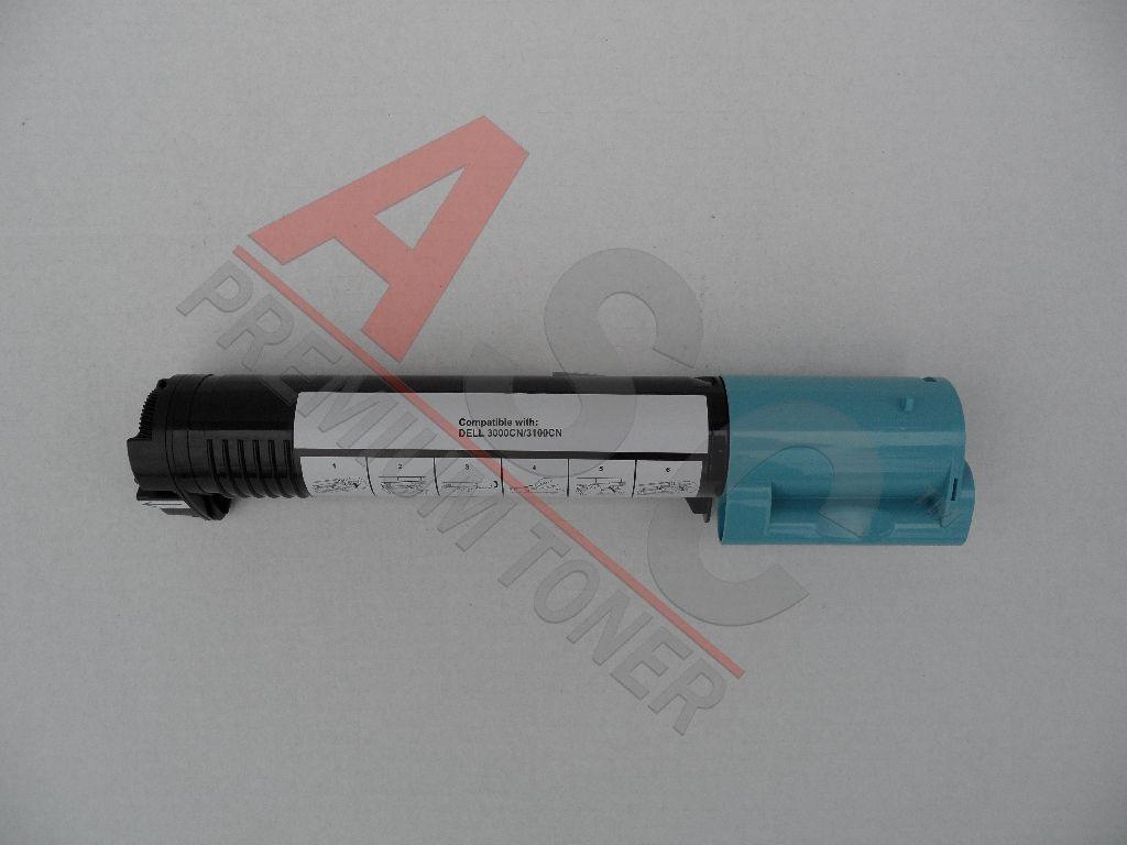 Dell Cartouche de Toner pour Dell 59310064 / T6412 cyan compatible (de marque ASC)