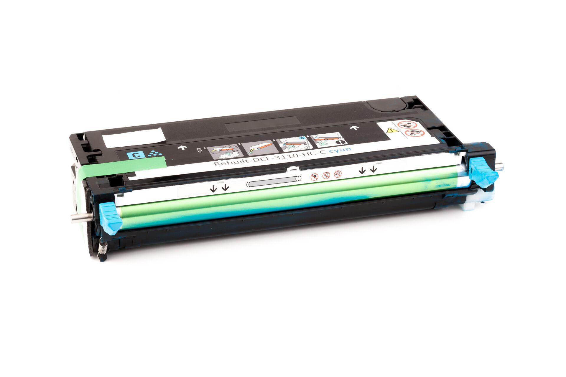 Dell Cartouche de Toner pour Dell 59310171 / PF029 cyan compatible (de marque ASC)