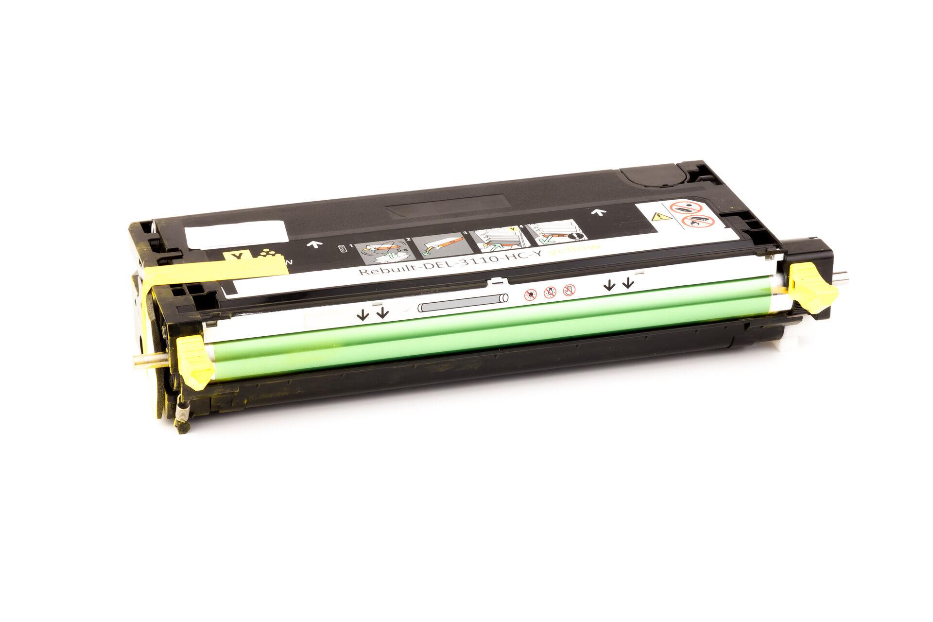 Dell Cartouche de Toner pour Dell 59310173 / NF556 jaune compatible (de marque ASC)