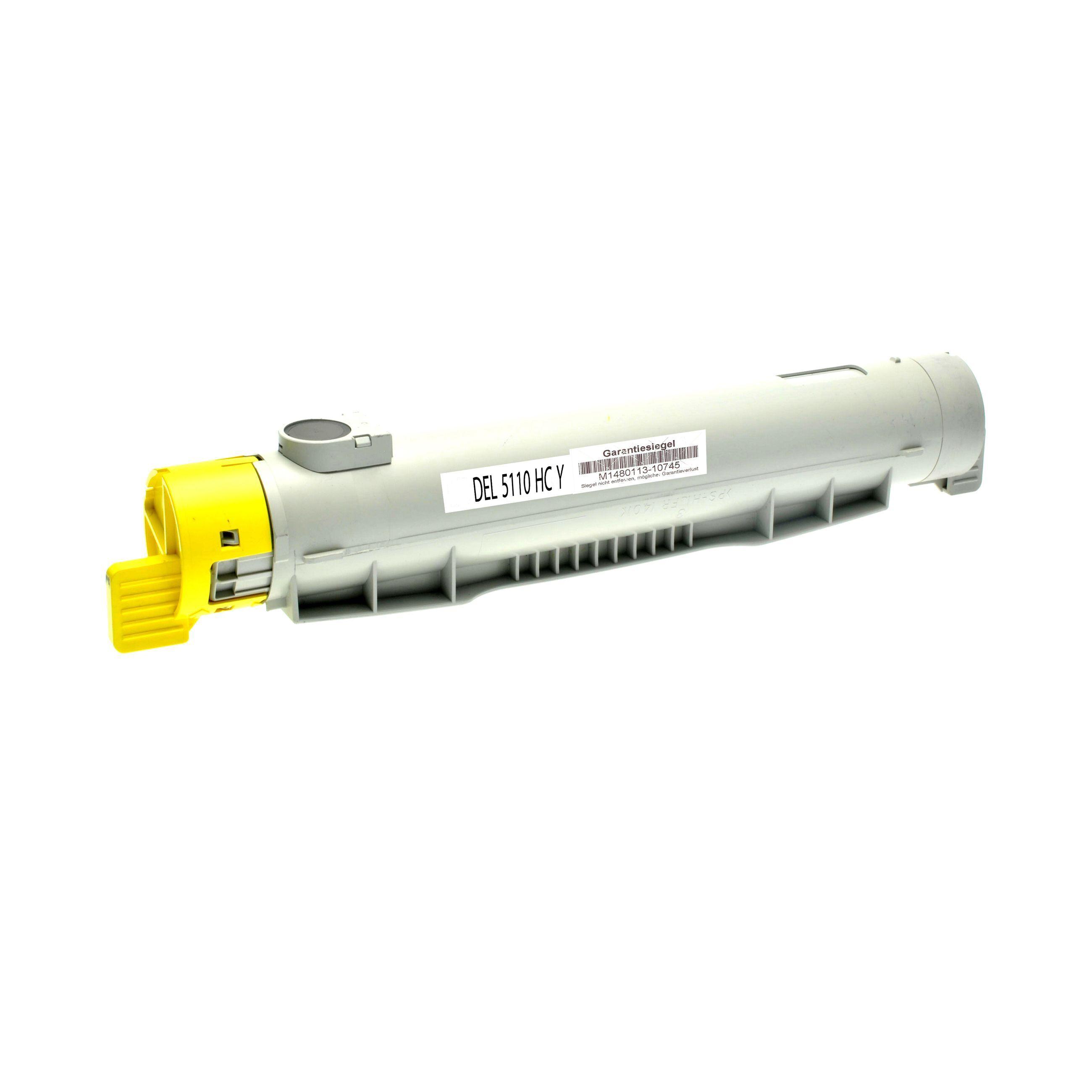 Dell Cartouche de Toner pour Dell 59310123 / JD750 jaune compatible (de marque ASC)