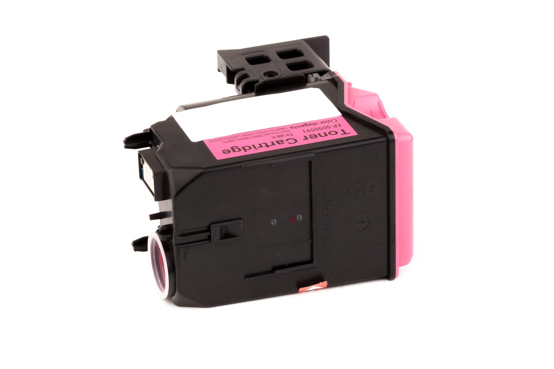 Epson Cartouche de Toner pour Epson C13S050591 / S050591 magenta compatible (de marque ASC)