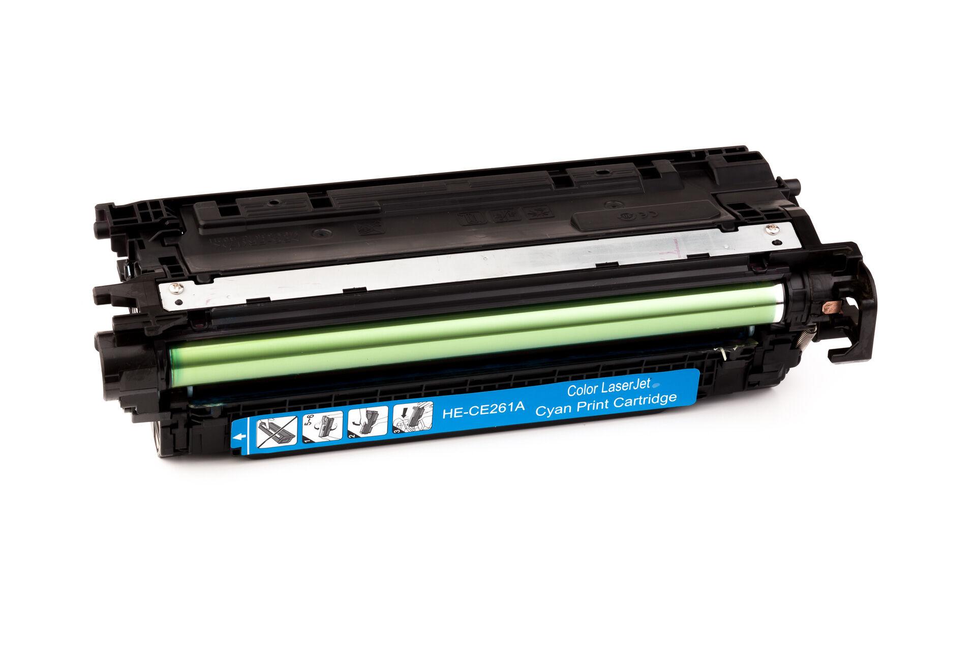 HP Cartouche de Toner pour HP CE261A / 648A cyan compatible (de marque ASC)