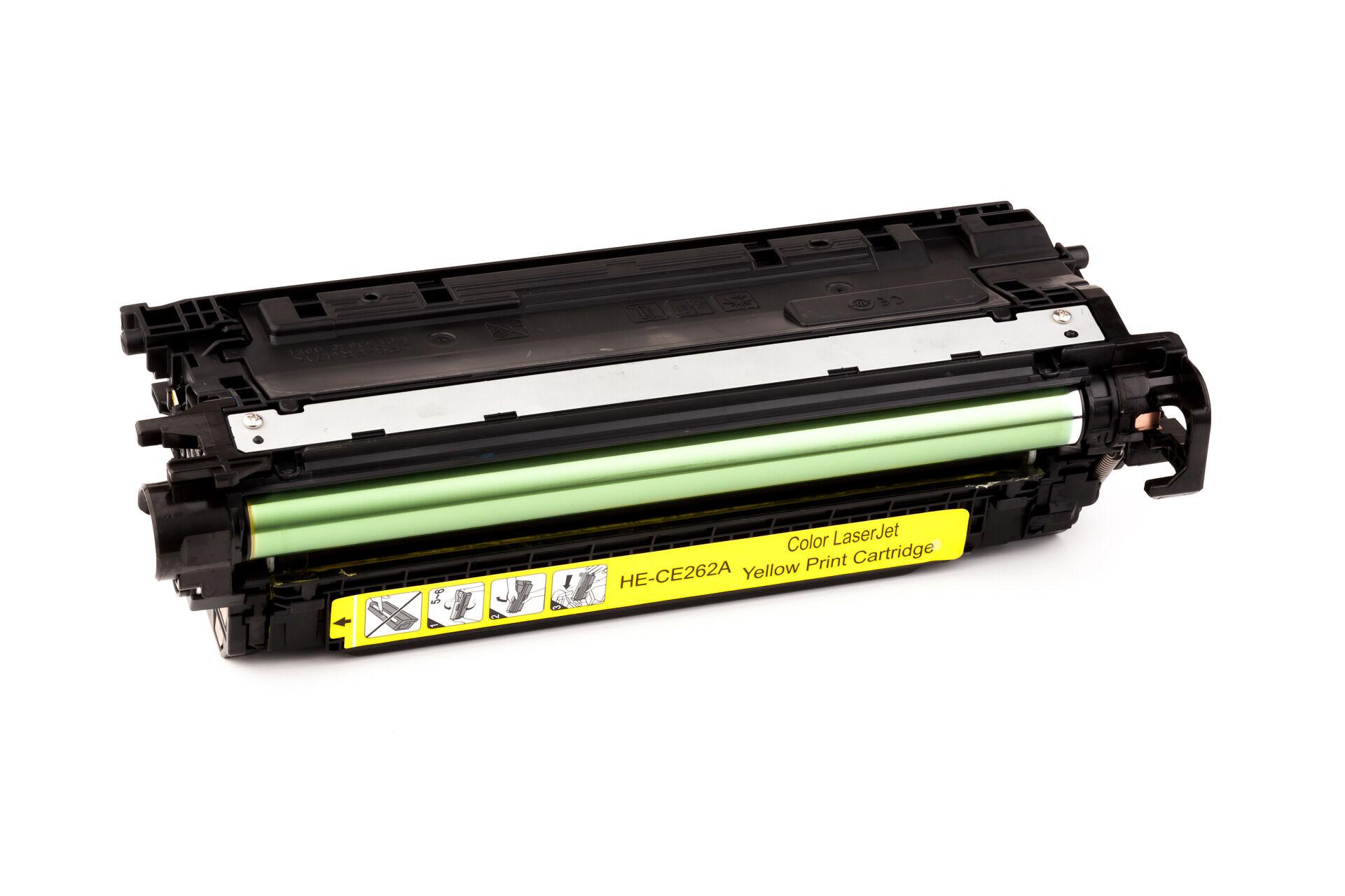 HP Cartouche de Toner pour HP CE262A / 648A jaune compatible (de marque ASC)