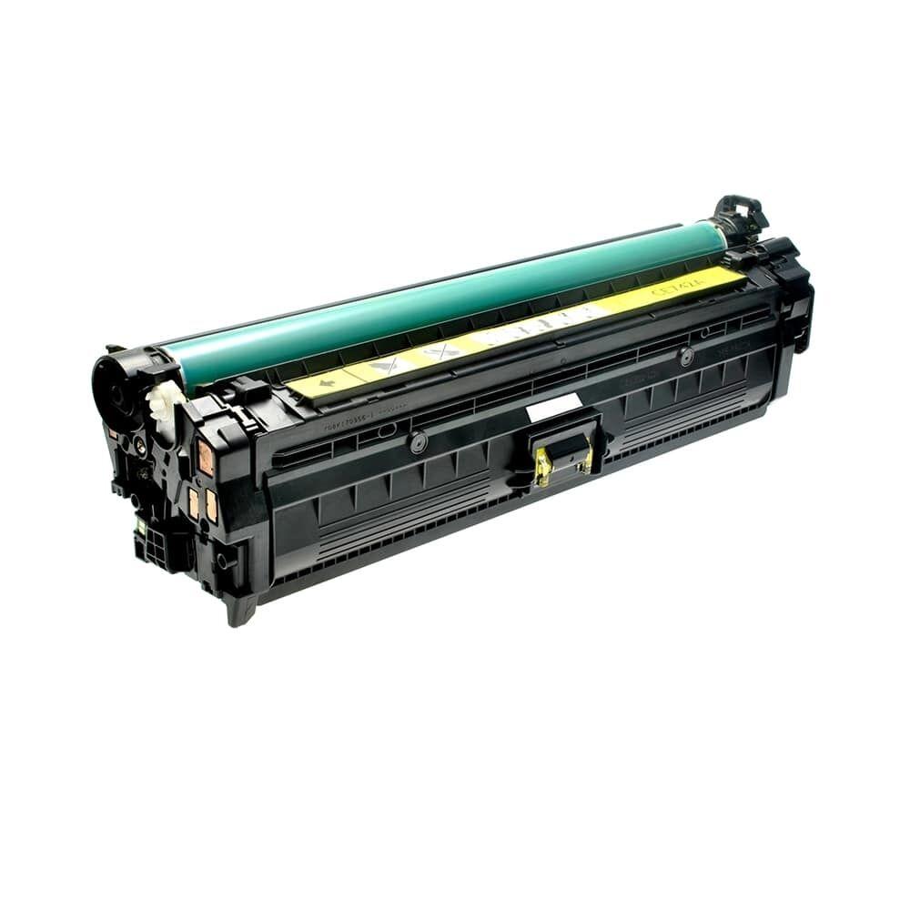 HP Cartouche de Toner pour HP CE742A / 307A jaune compatible (de marque ASC)