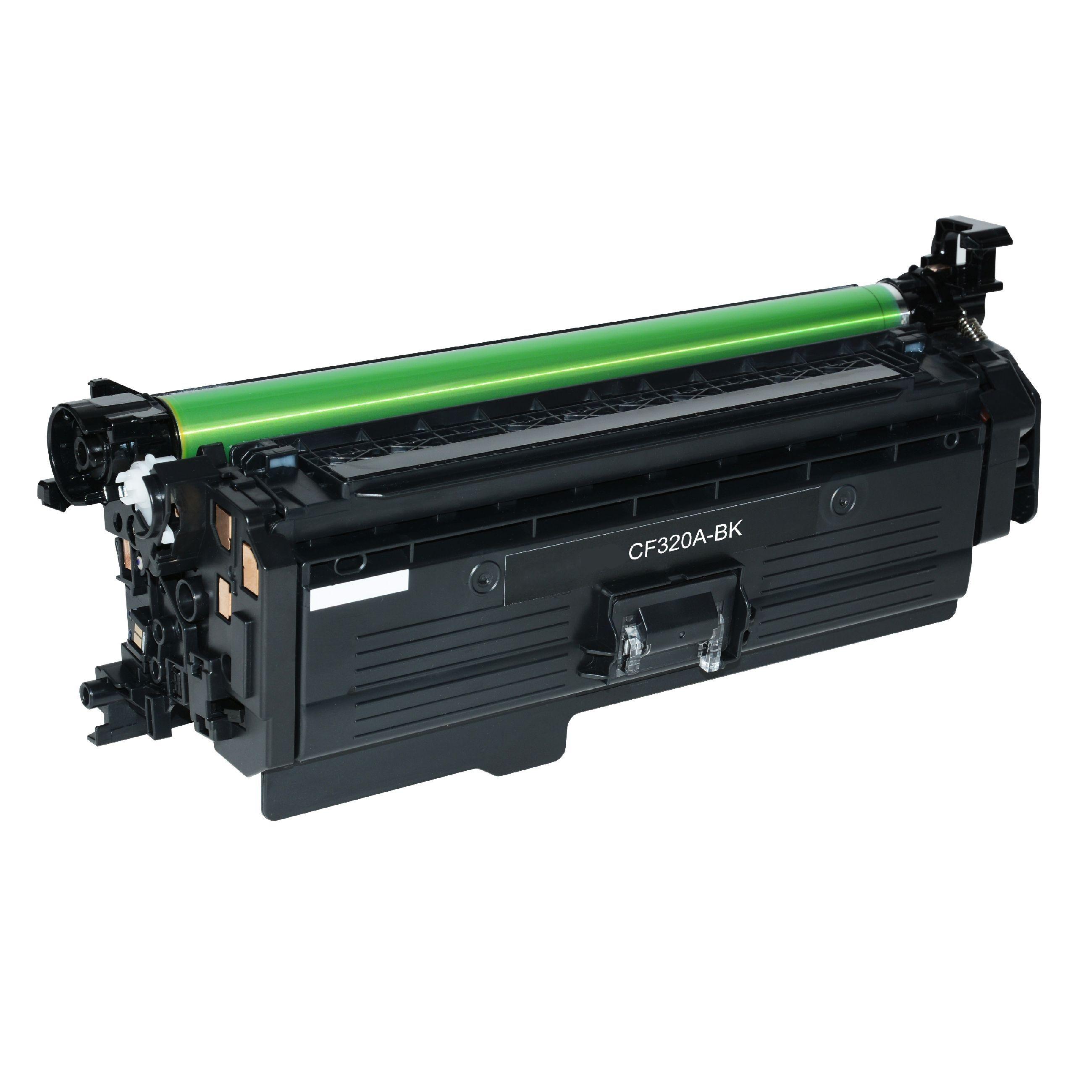 HP Cartouche de Toner pour HP CF320A / 652A noir compatible (de marque ASC)