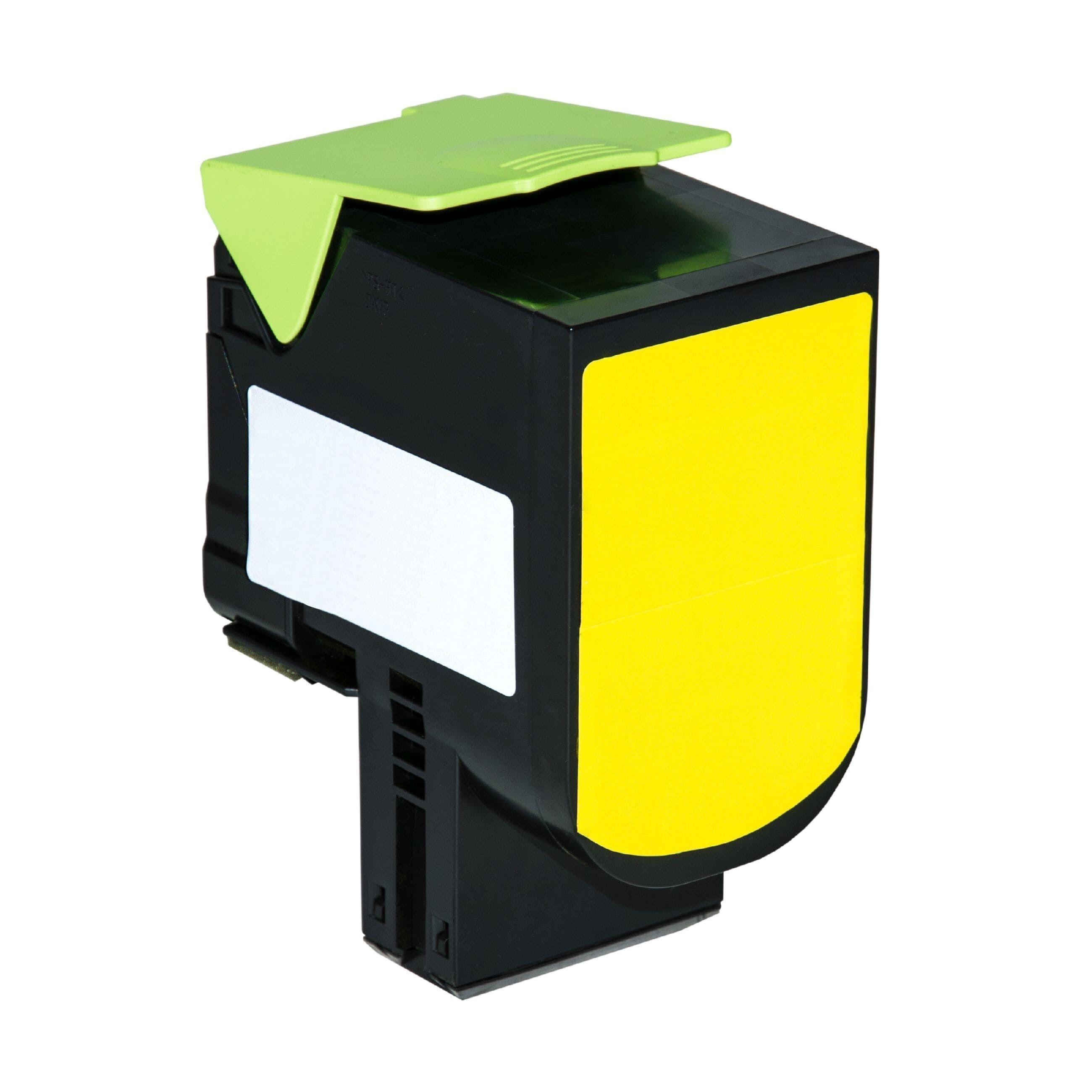 LEXMARK Cartouche de Toner pour LEXMARK 80C0H40 / 800H4 jaune compatible (de marque ASC)