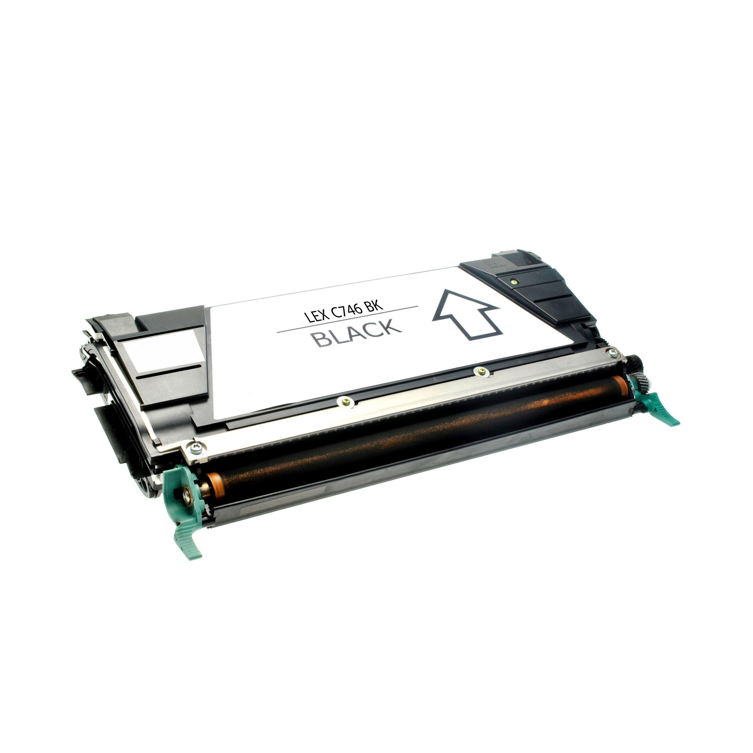 Lexmark Cartouche de Toner pour Lexmark C746H1KG noir compatible (de marque ASC)
