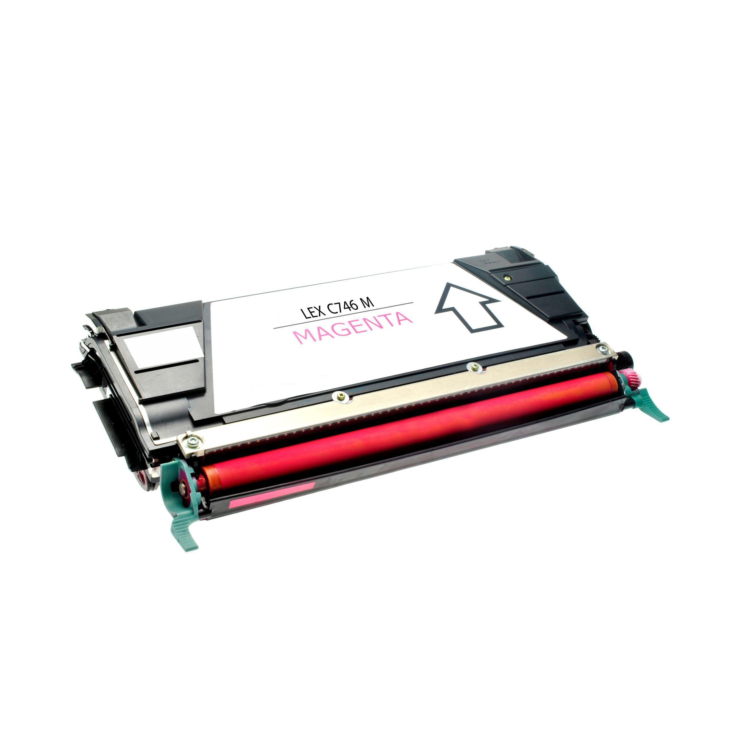 Lexmark Cartouche de Toner pour Lexmark C746A2MG magenta compatible (de marque ASC)