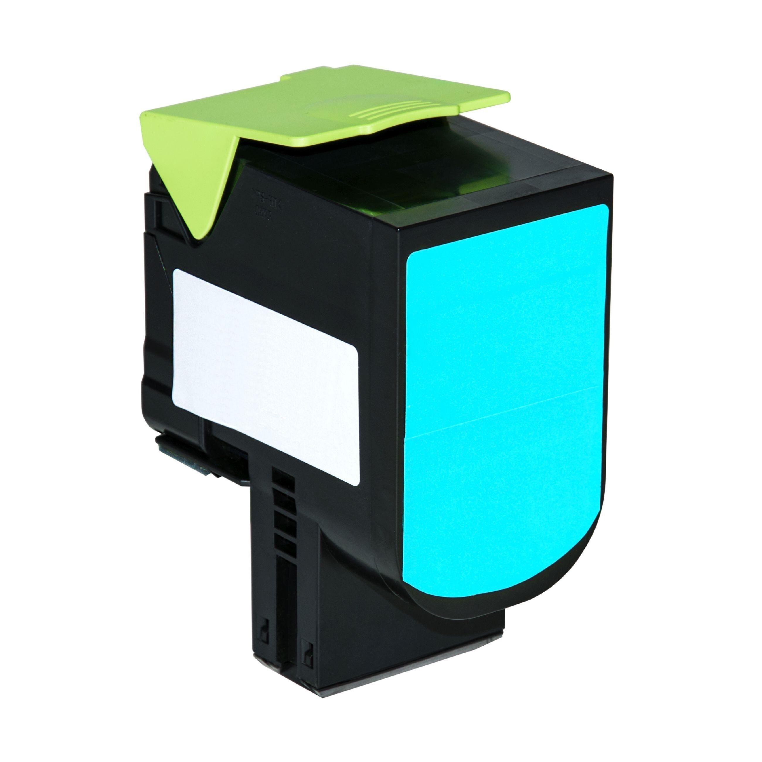 Lexmark Cartouche de Toner pour Lexmark 70C20C0 / 702C cyan compatible (de marque ASC)