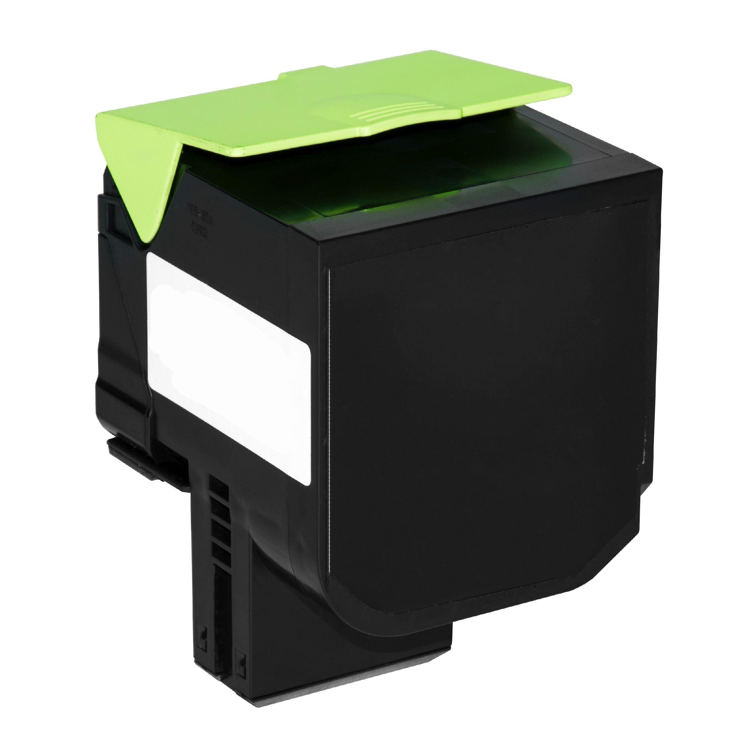 Lexmark Cartouche de Toner pour Lexmark 80C0X10 / 800X1 noir compatible (de marque ASC)