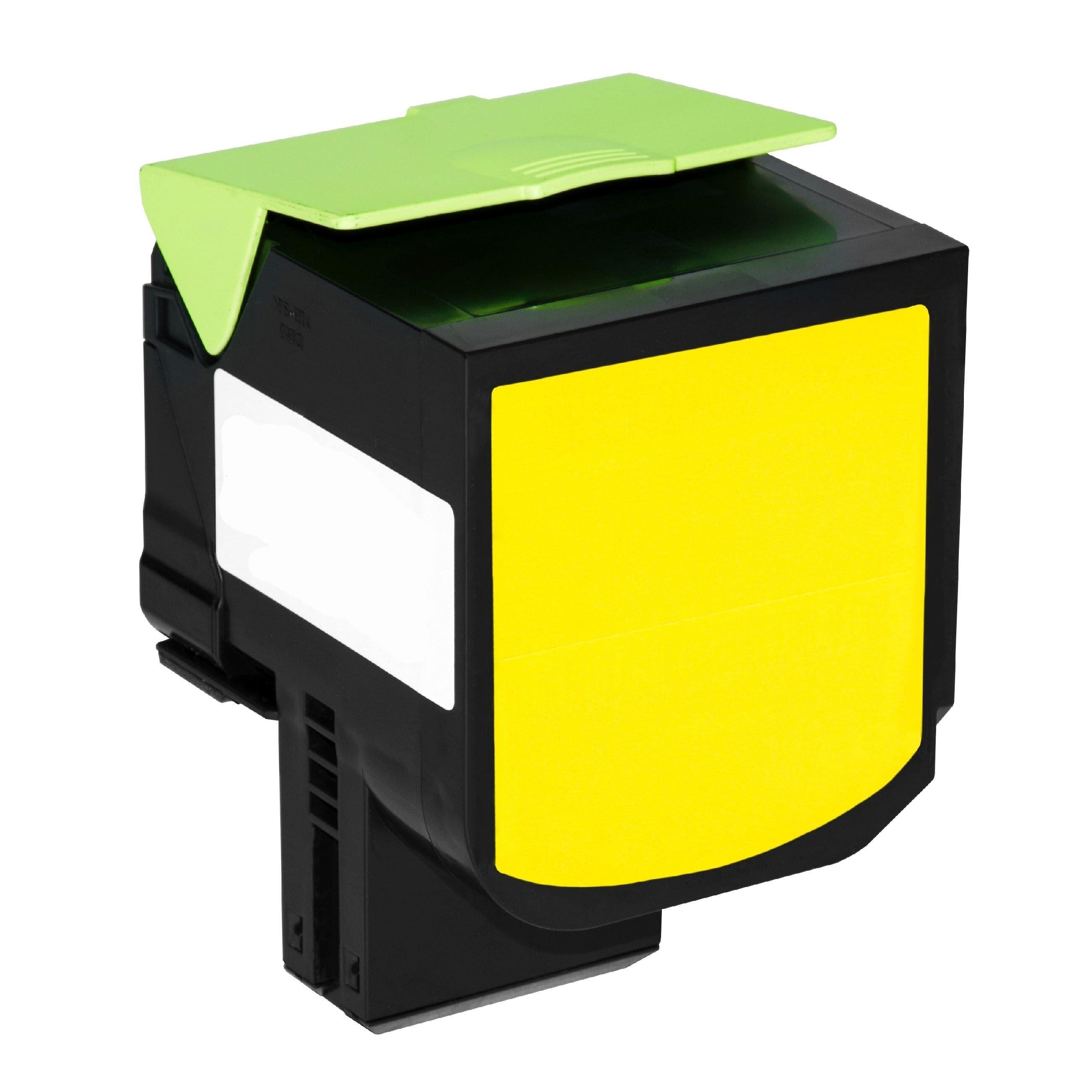 Lexmark Cartouche de Toner pour Lexmark 80C0X40 / 800X4 jaune compatible (de marque ASC)
