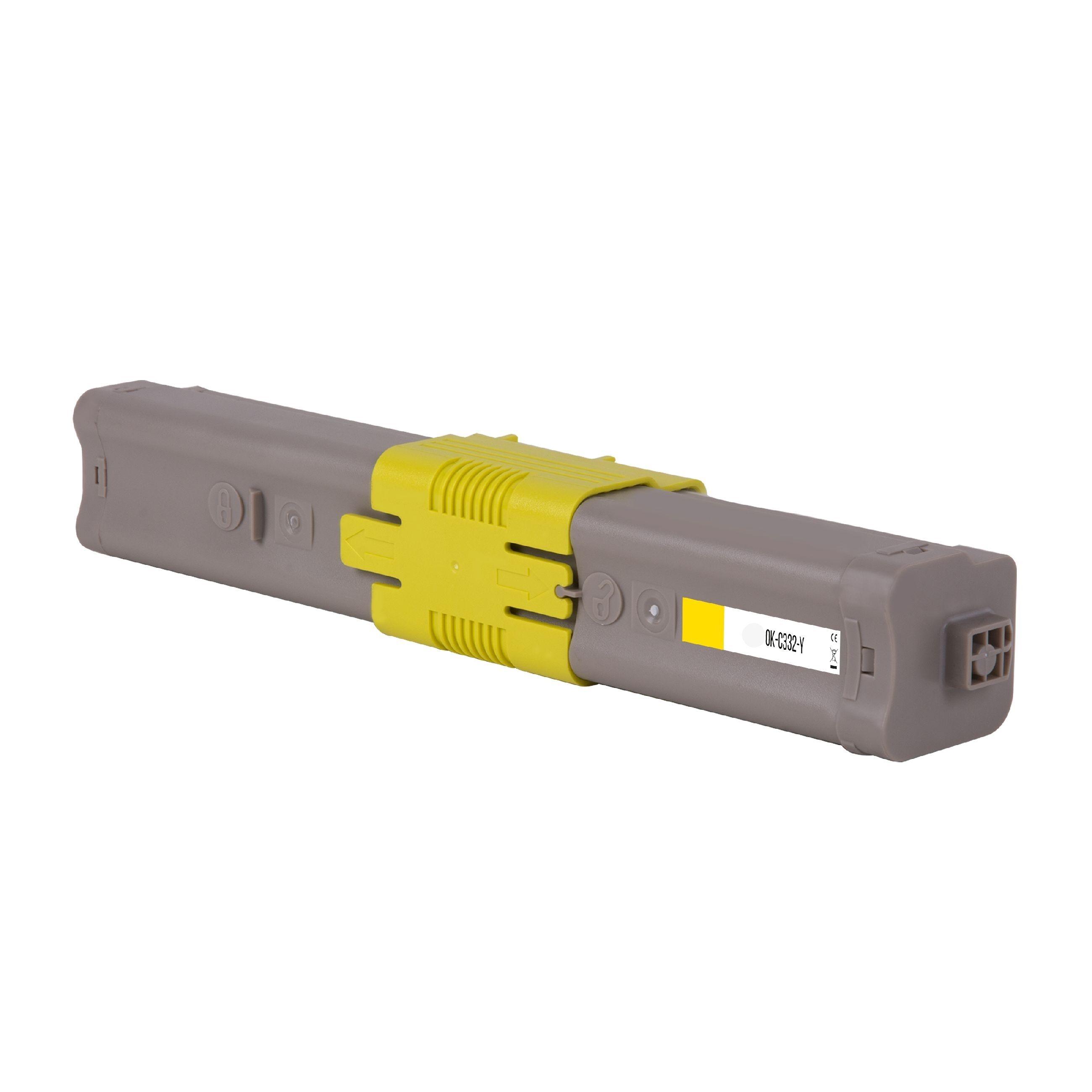OKI Cartouche de Toner pour OKI 46508709 jaune compatible (de marque ASC)