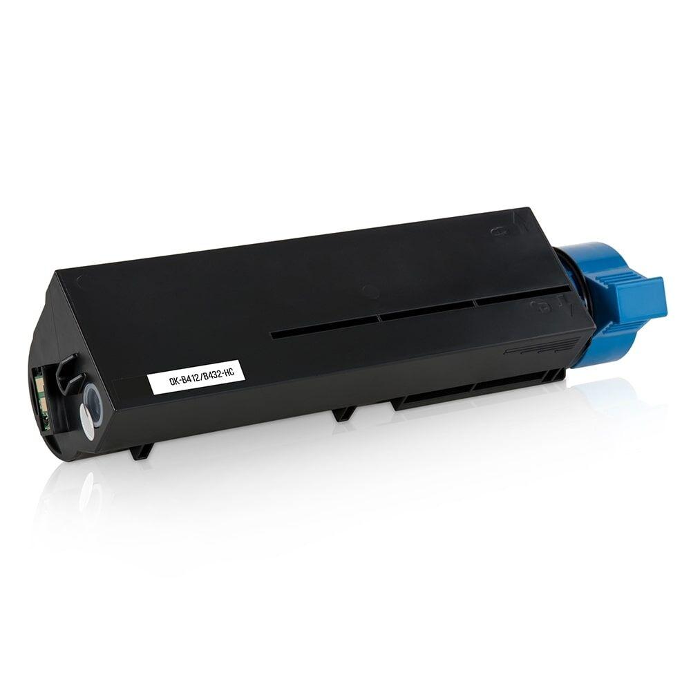 OKI Cartouche de Toner pour OKI 45807106 noir compatible (de marque ASC)