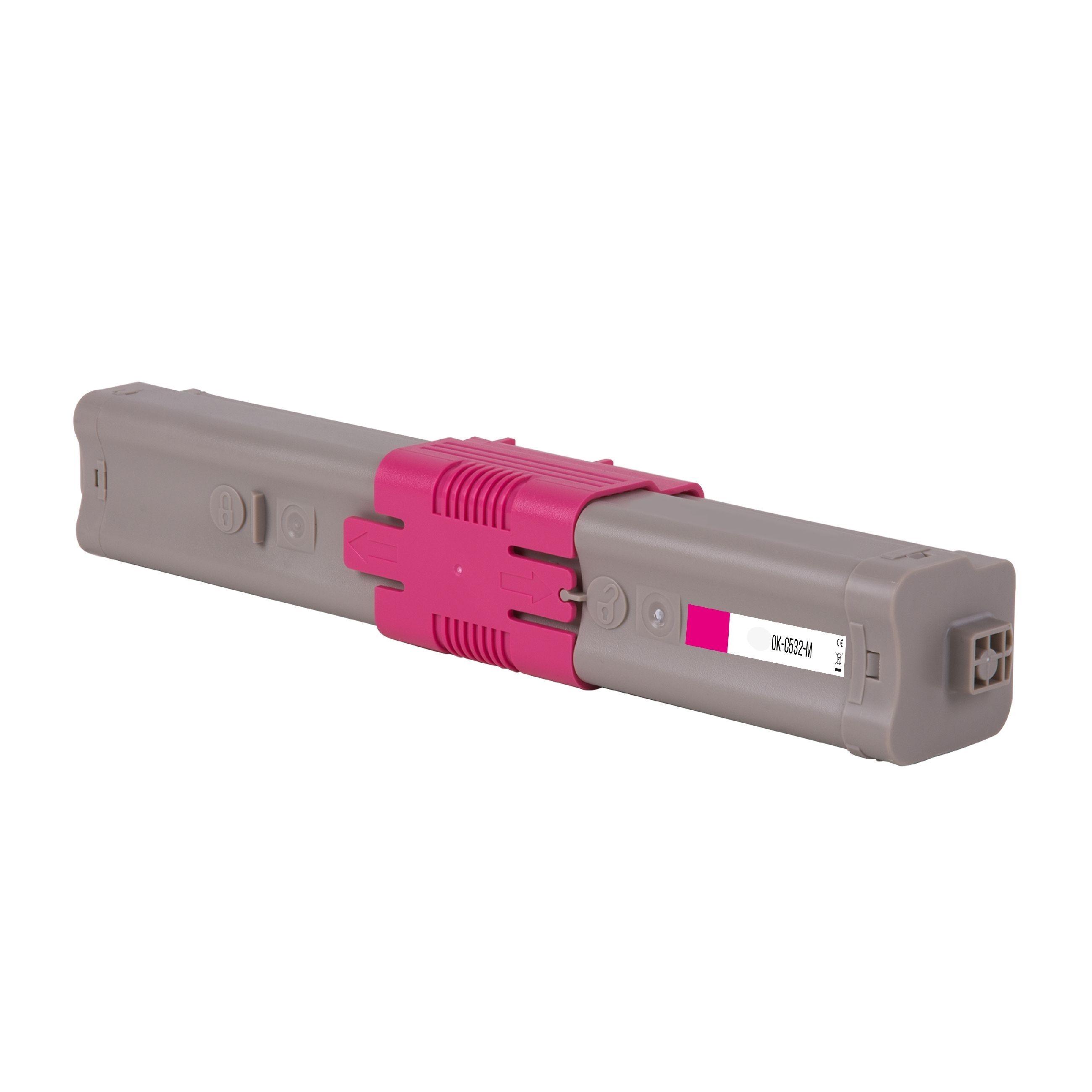 OKI Cartouche de Toner pour OKI 46490606 magenta compatible (de marque ASC)