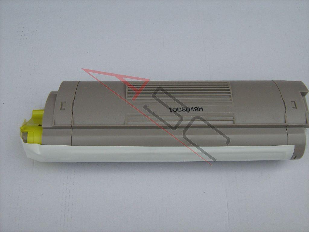 OKI Cartouche de Toner pour OKI 43381905 jaune compatible (de marque ASC)