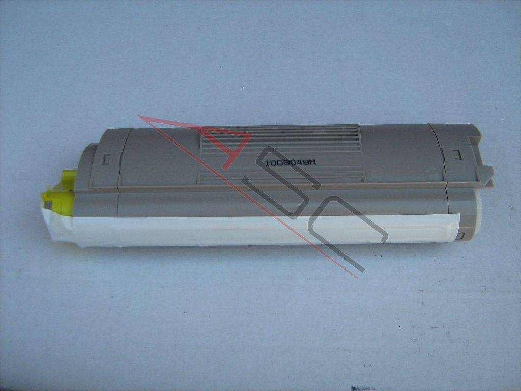 OKI Cartouche de Toner pour OKI 43324421 jaune compatible (de marque ASC)