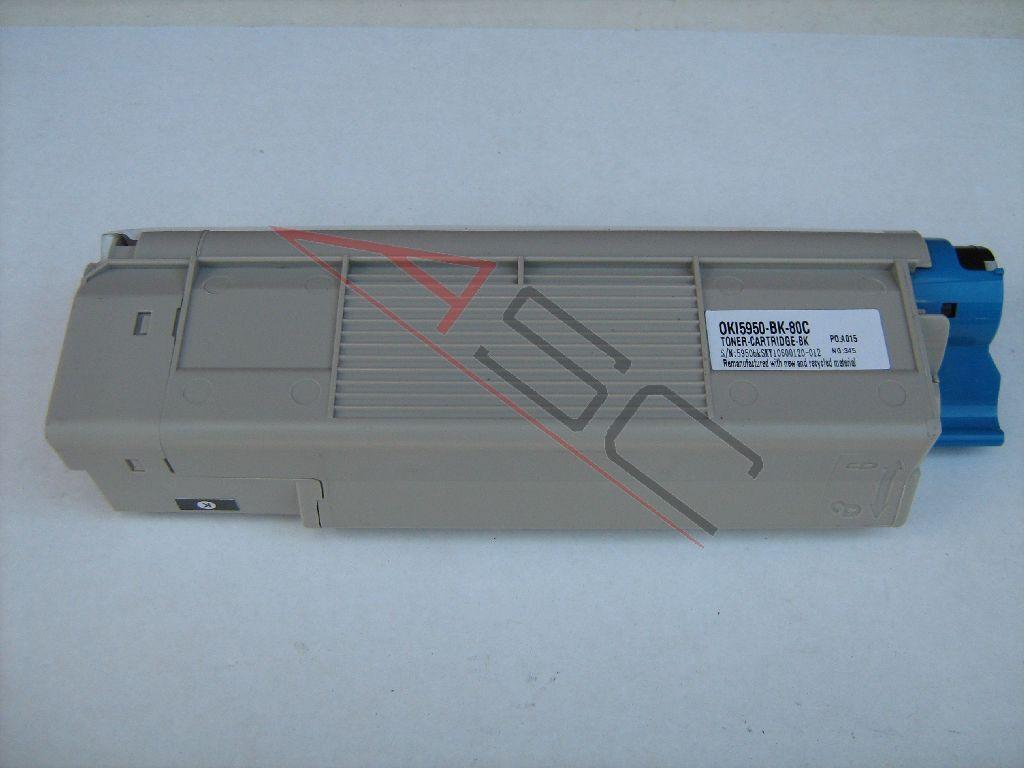 OKI Cartouche de Toner pour OKI 43865724 noir compatible (de marque ASC)