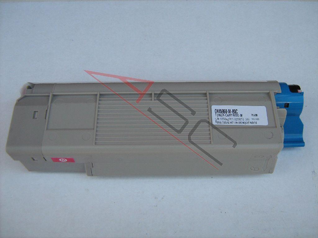 OKI Cartouche de Toner pour OKI 43865722 magenta compatible (de marque ASC)