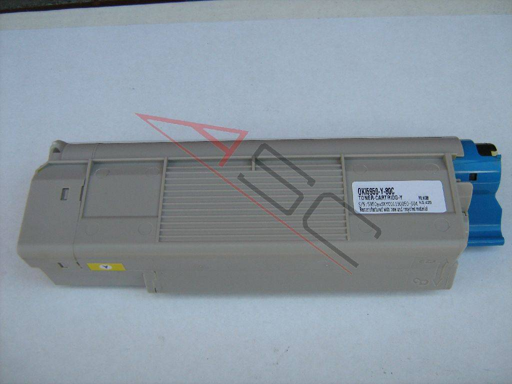 OKI Cartouche de Toner pour OKI 43865721 jaune compatible (de marque ASC)