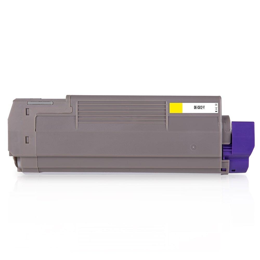 OKI Cartouche de Toner pour OKI 46507505 jaune compatible (de marque ASC)