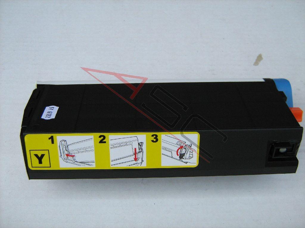 OKI Cartouche de Toner pour OKI 41963005 jaune compatible (de marque ASC)