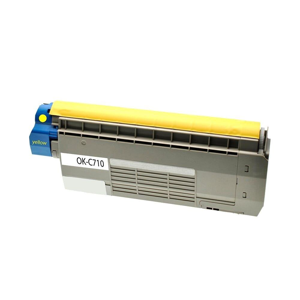OKI Cartouche de Toner pour OKI 44318605 jaune compatible (de marque ASC)
