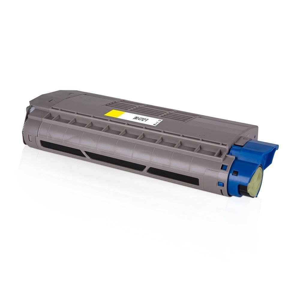 OKI Cartouche de Toner pour OKI 46507613 jaune compatible (de marque ASC)