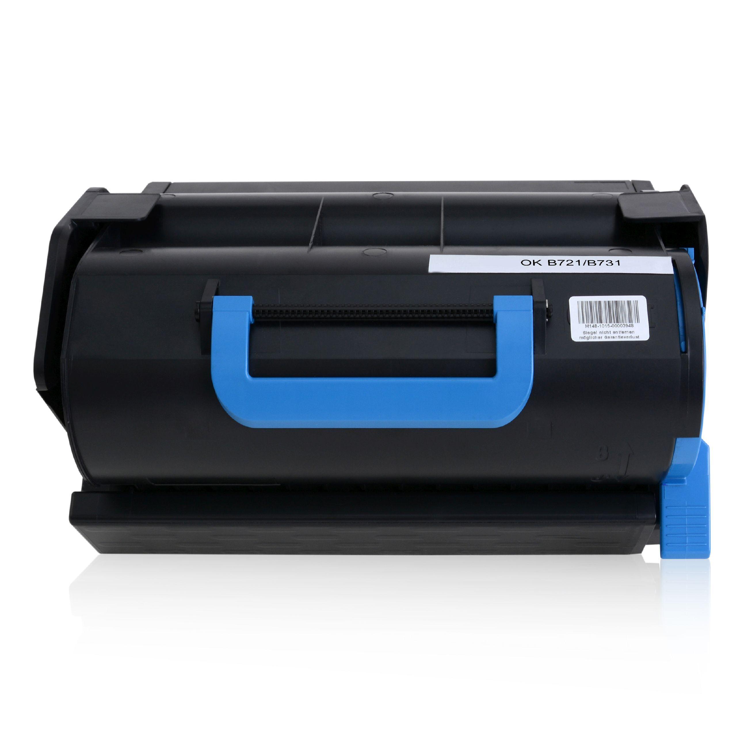 OKI Cartouche de Toner pour OKI 45488802 noir compatible (de marque ASC)