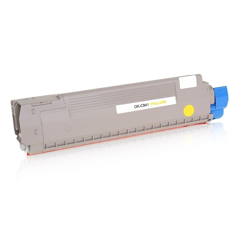 OKI Cartouche de Toner pour OKI 44844505 jaune compatible (de marque ASC)