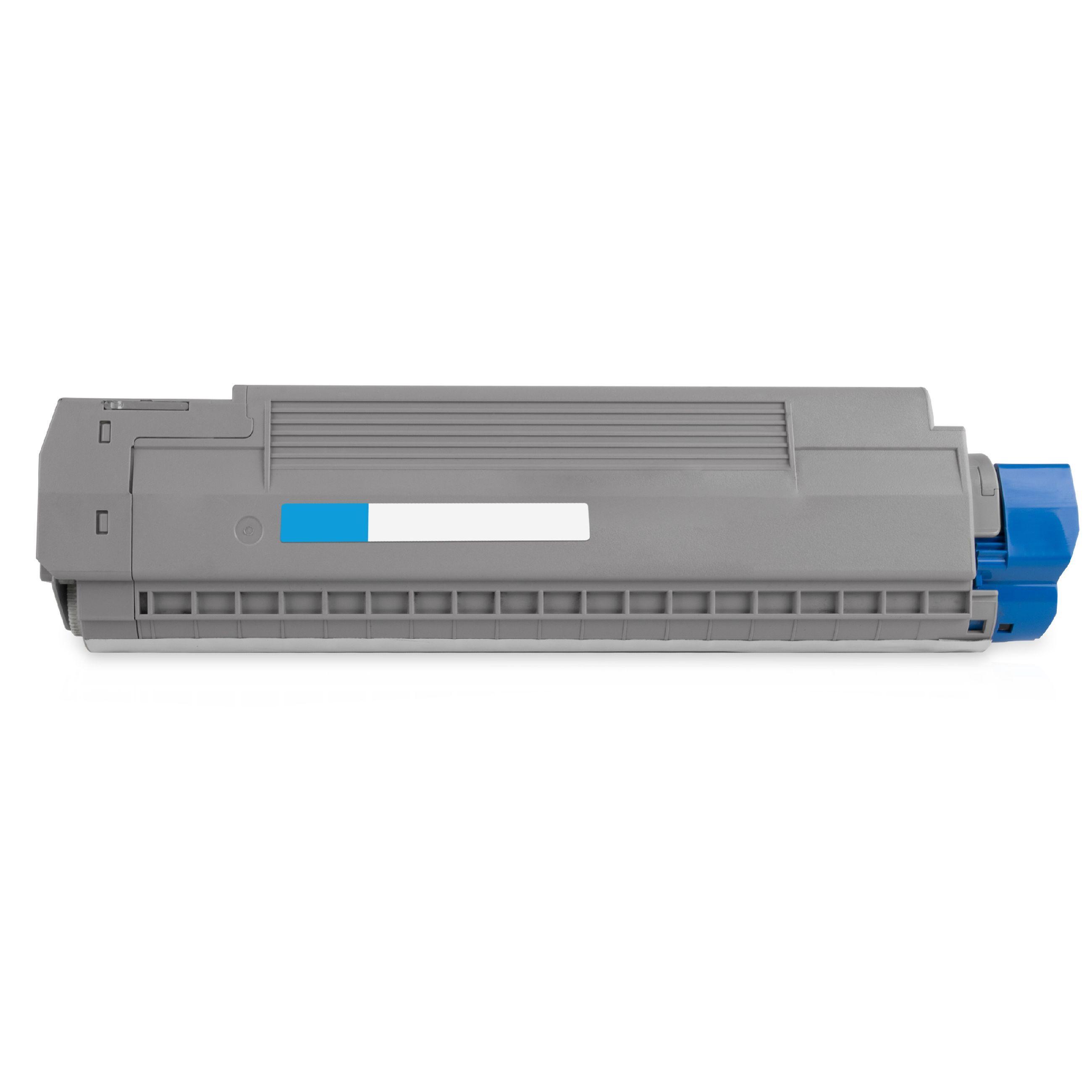 OKI Cartouche de Toner pour OKI 44059259 cyan compatible (de marque ASC)