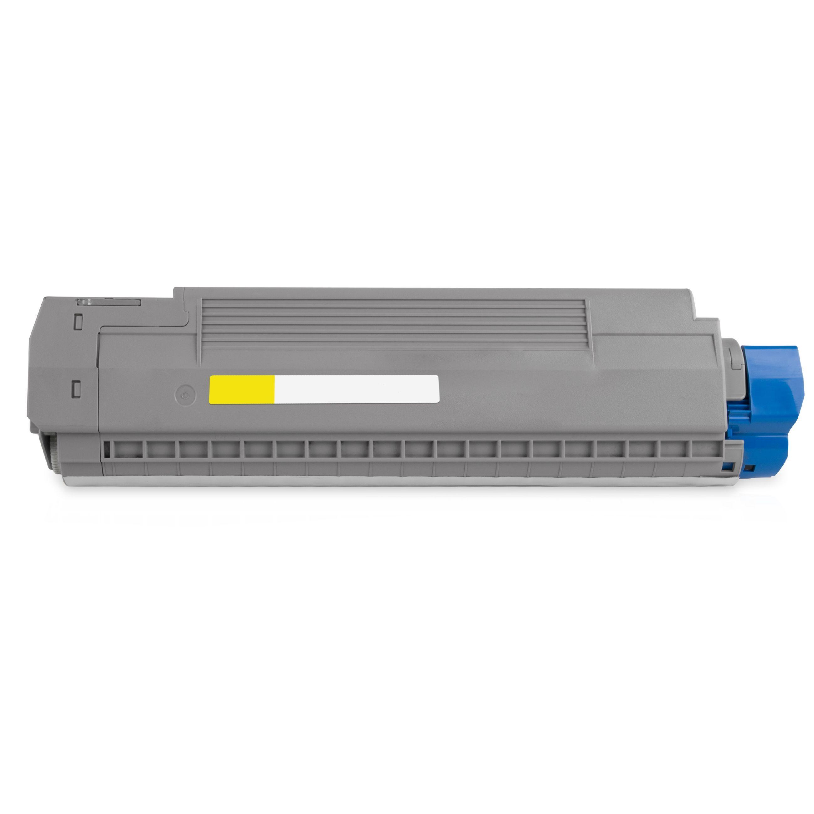 OKI Cartouche de Toner pour OKI 44059257 jaune compatible (de marque ASC)