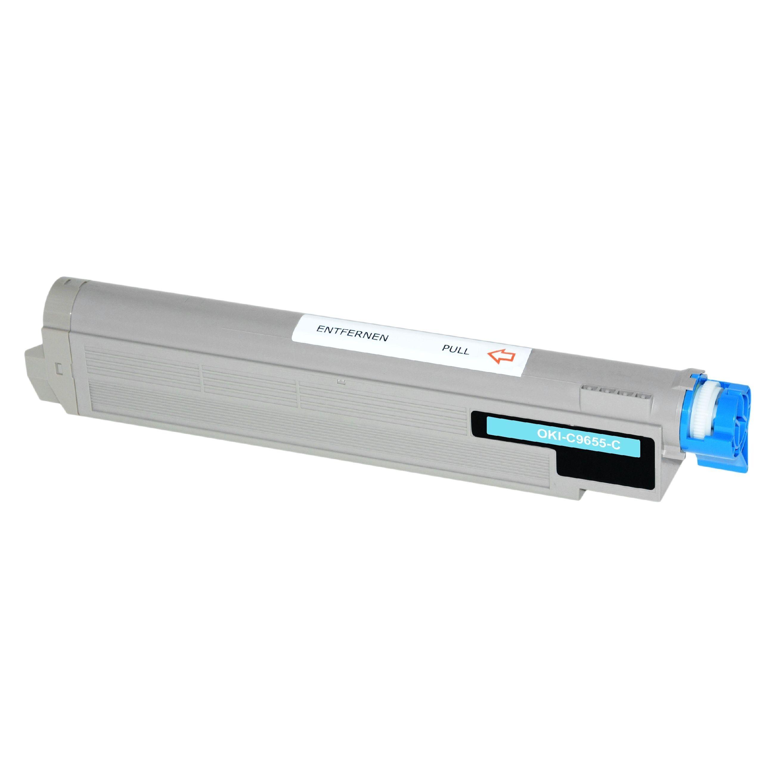 OKI Cartouche de Toner pour OKI 43837131 cyan compatible (de marque ASC)