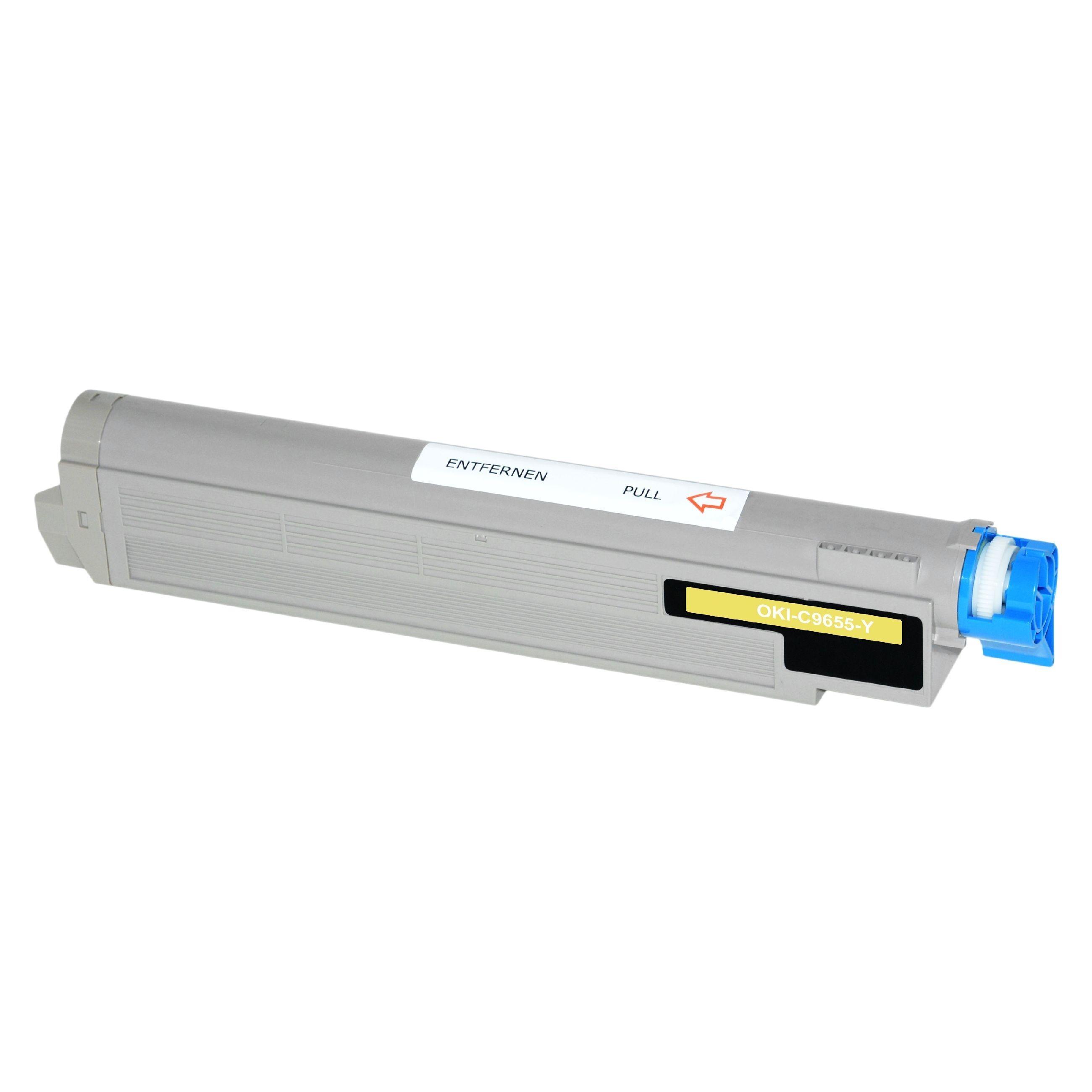 OKI Cartouche de Toner pour OKI 43837129 jaune compatible (de marque ASC)