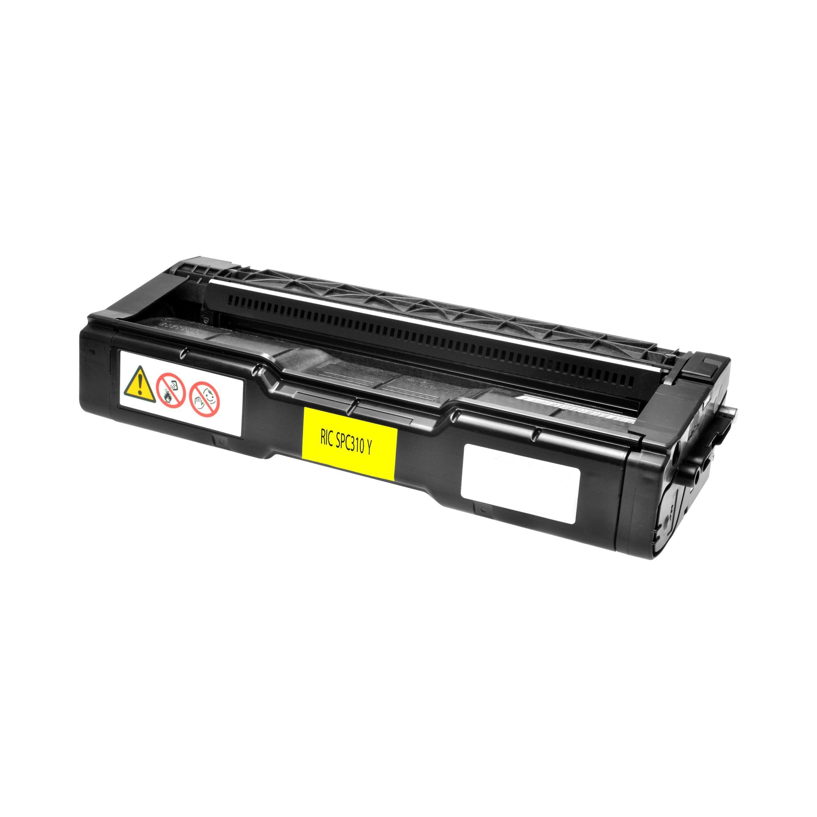 Ricoh Cartouche de Toner pour Ricoh 406351 / TYPE SPC 310 HE jaune compatible (de marque ASC)