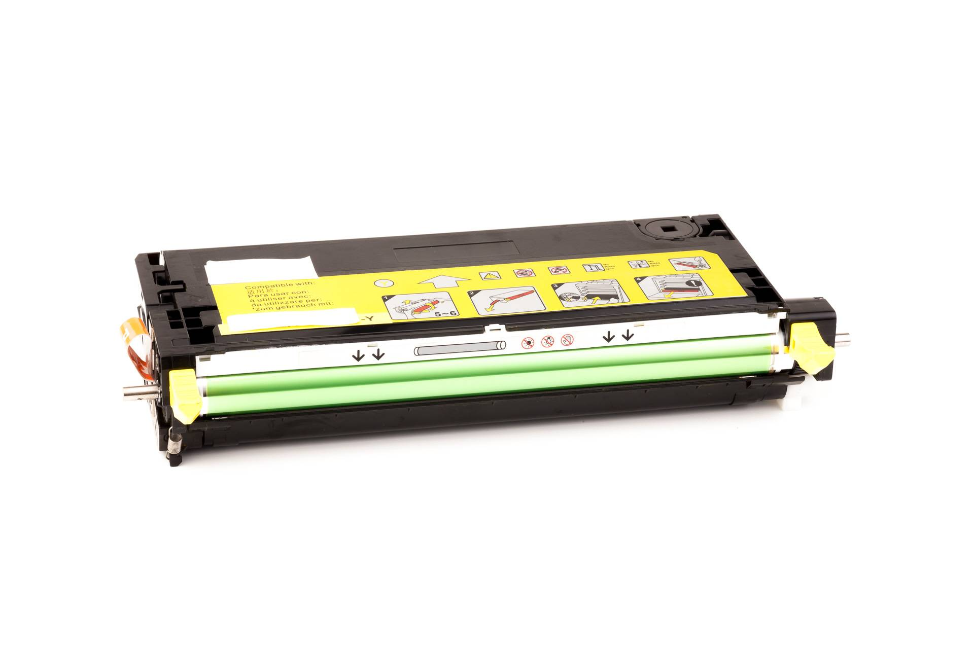 Xerox Cartouche de Toner pour Xerox 113R00725 jaune compatible (de marque ASC)