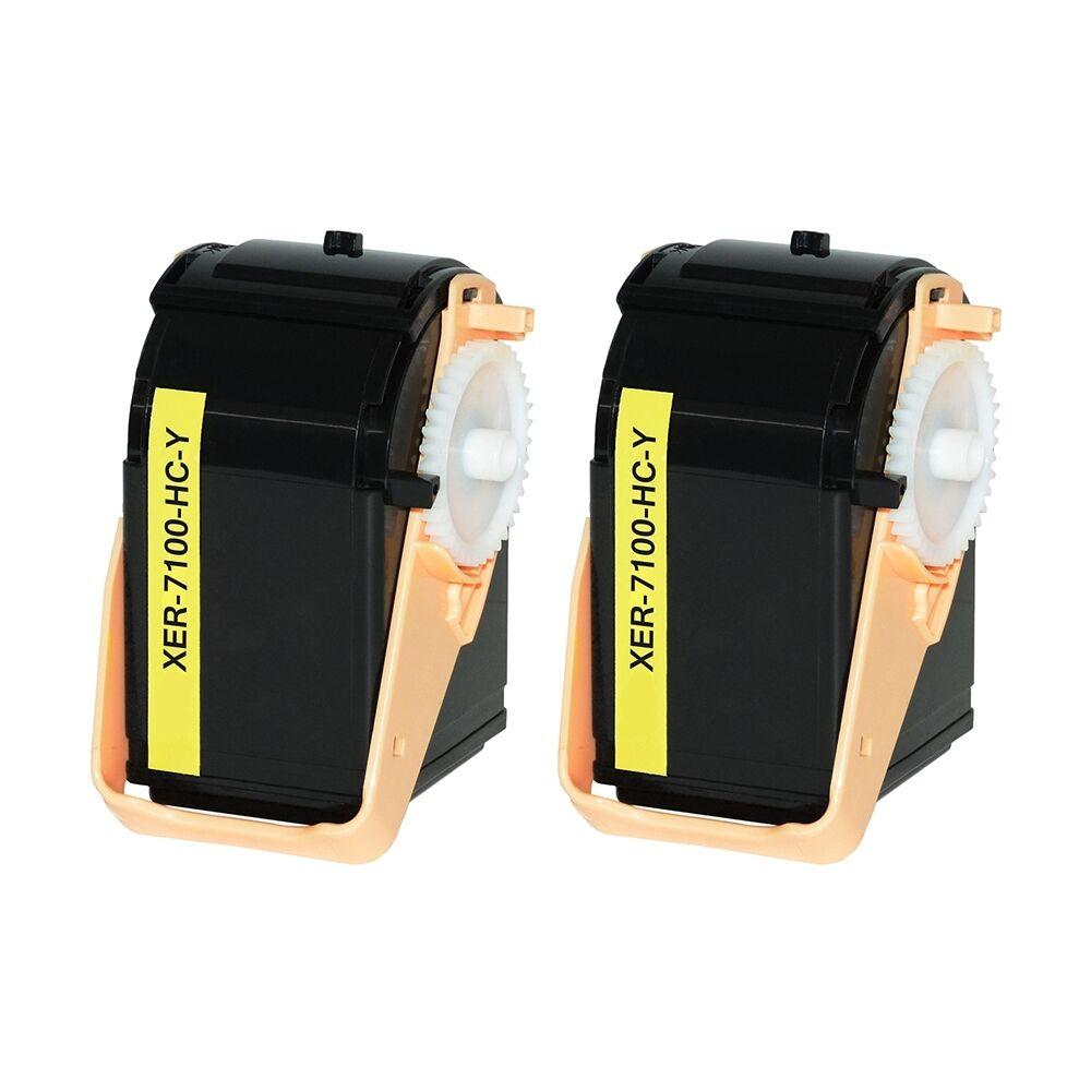 Xerox Cartouche de Toner pour Xerox 106R02604 jaune compatible (de marque ASC)