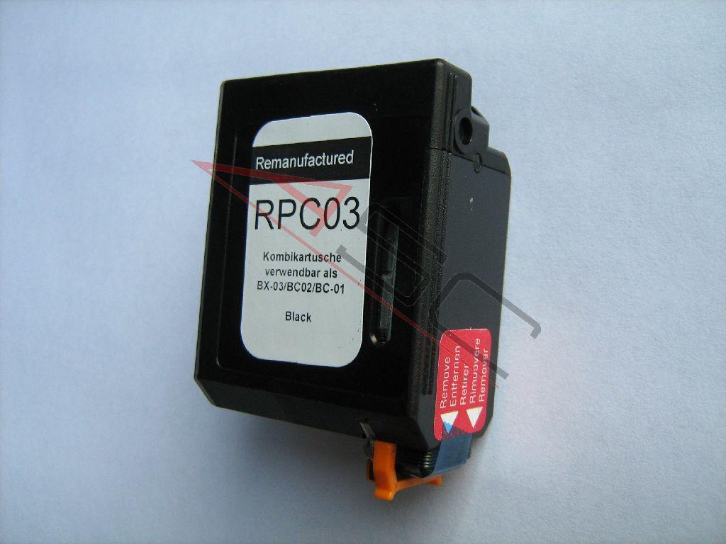 Canon Cartouche d'encre pour Canon 0881A002 / BC-02 noir compatible (de marque ASC)