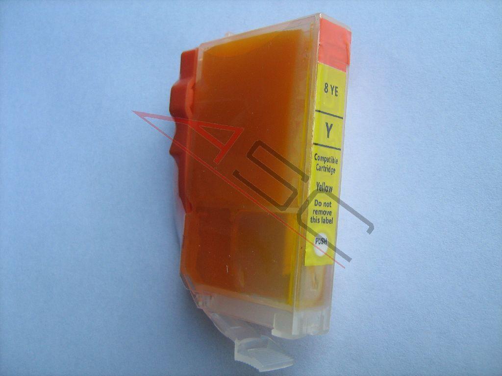 Canon Cartouche d'encre pour Canon 4482A002 / BCI-3 EY jaune compatible (de marque ASC)