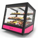 SAYL Vitrine Réfrigérée Cubique à Poser Série QBO Base Lumineuse Colorée... par LeGuide.com Publicité