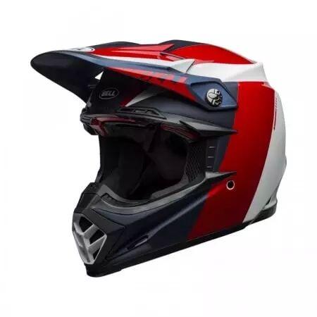 BELL Casque Bell Moto-9 Flex Division Blanc Rouge Noir Bleu