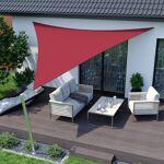 Jarolift Voile d'ombrage triangulaire, imperméable, rouge, 5 x 5... par LeGuide.com Publicité