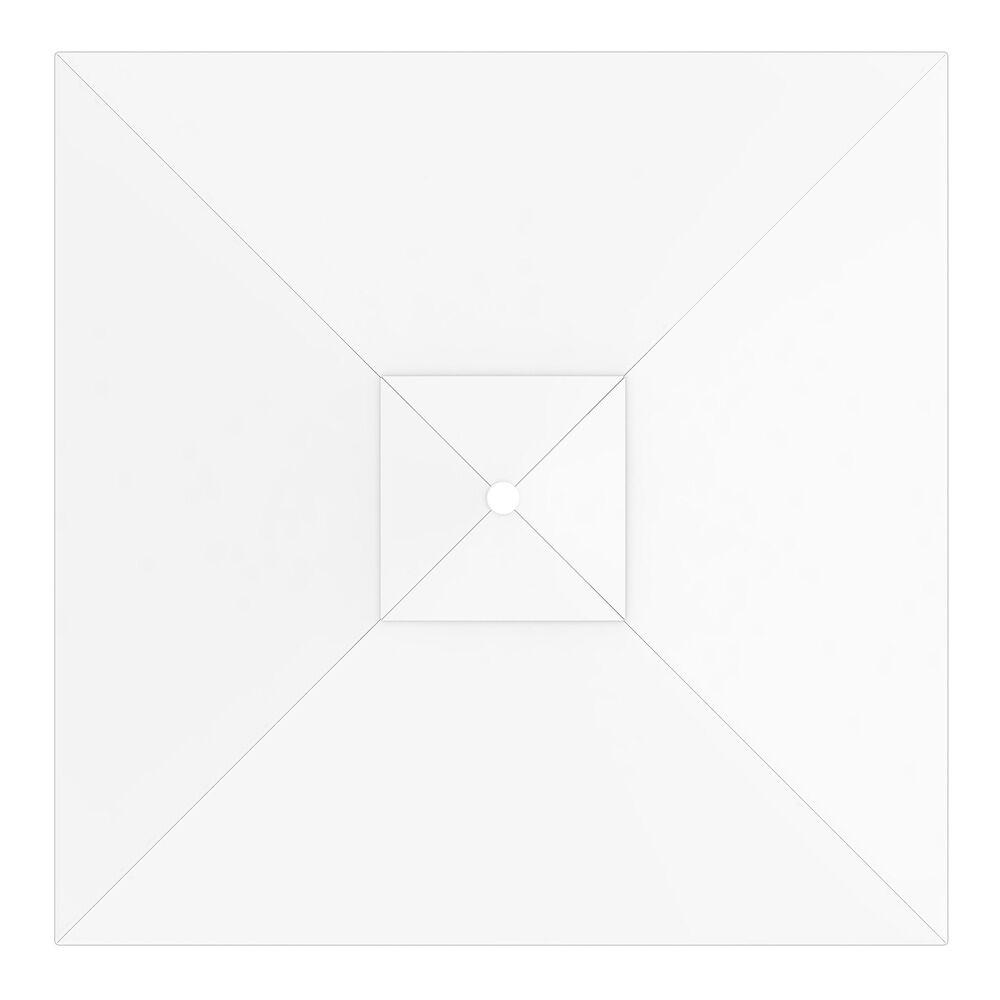Paramondo Toile de parasol carrée 3x3 m, Interpara, Blanc
