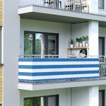 Jarolift Brise-vue pour balcon Basic, tissu respirant, Blanc-bleu, 0,9... par LeGuide.com Publicité