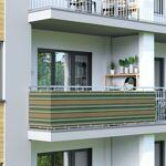 Jarolift Brise-vue pour balcon Basic, tissu respirant, Vert-blanc-brun,... par LeGuide.com Publicité