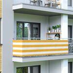 Jarolift Brise-vue pour balcon Basic, tissu respirant, Jaune-Blanc, 0,9... par LeGuide.com Publicité