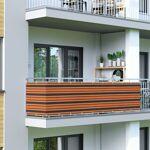 Jarolift Brise-vue pour balcon Basic, tissu respirant, Orange-brun-noir,... par LeGuide.com Publicité