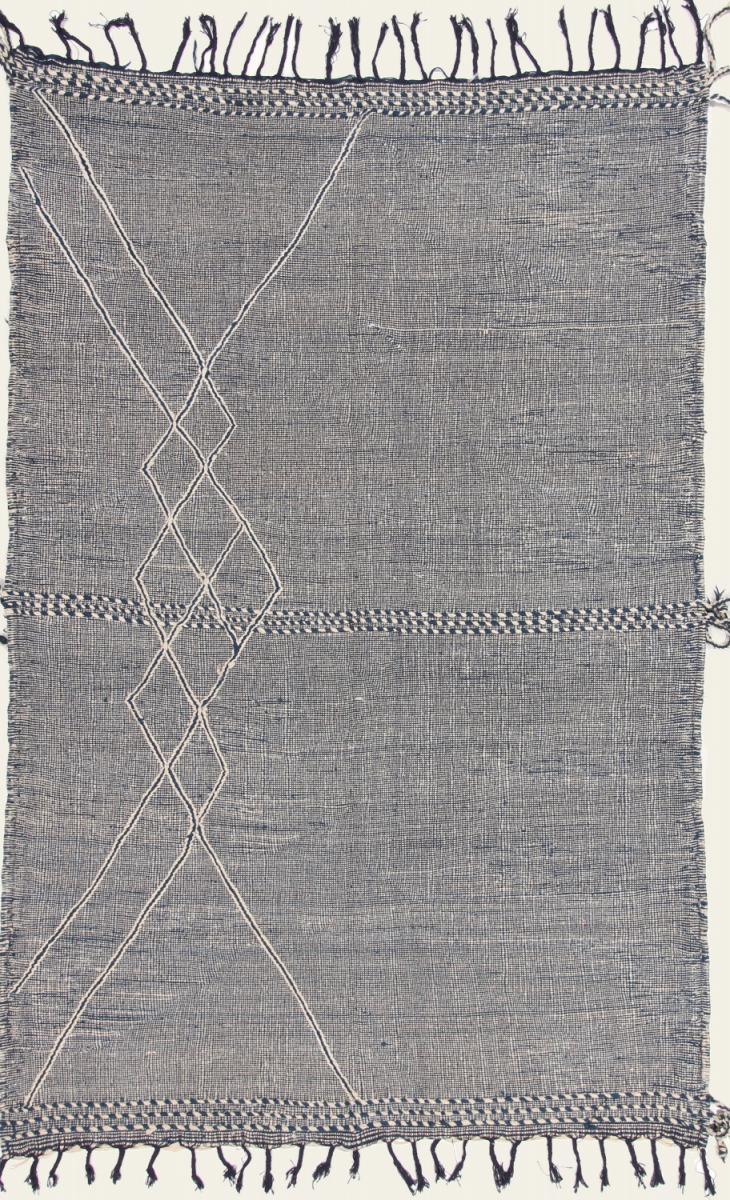 Nain Trading Tapis Authentique Kilim Berber Design 289x189 Gris Foncé (Laine, Maroc, Noué à la main)