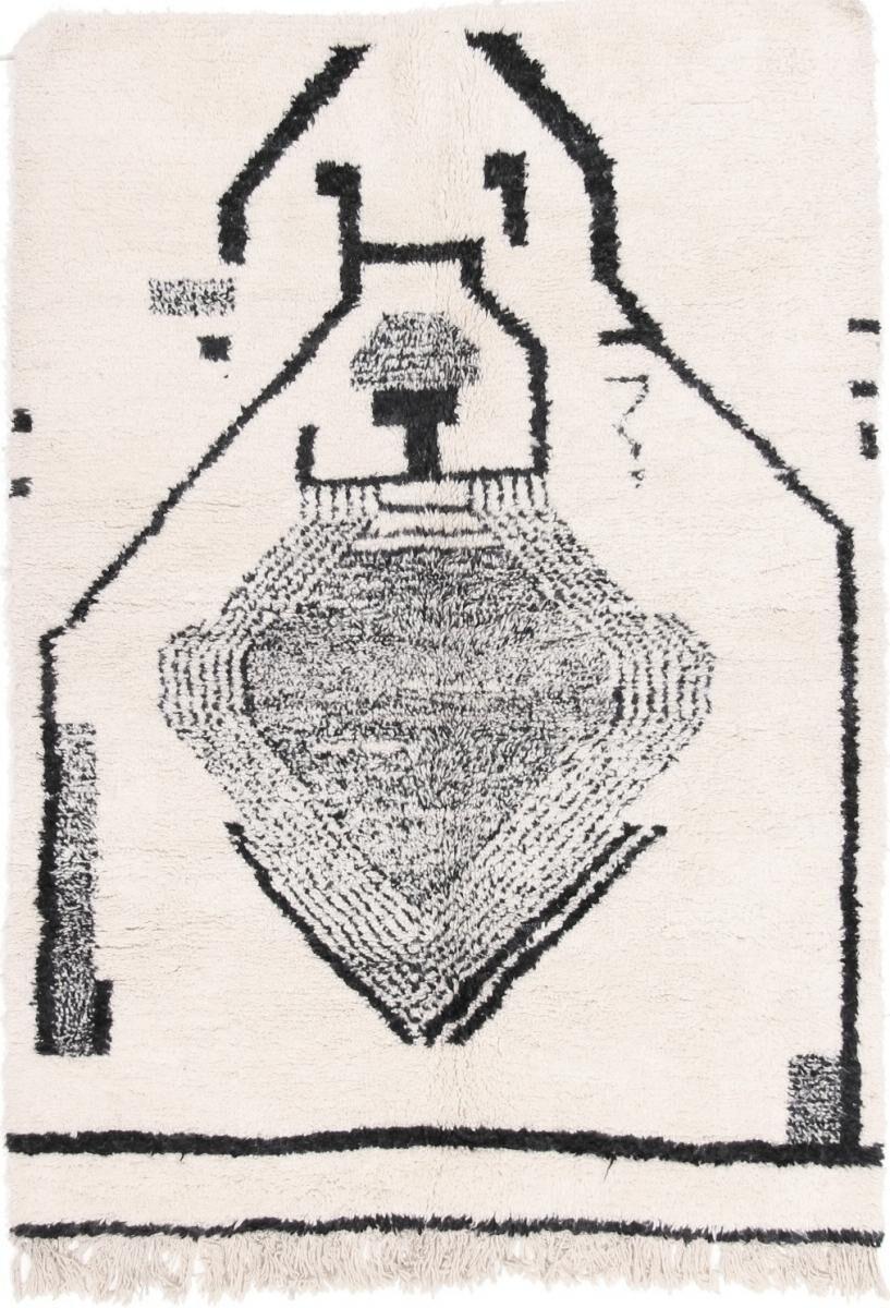 Nain Trading Tapis Authentique Berber Maroccan Azilal 237x171 Gris Foncé/Beige (Laine, Maroc, Noué à la main)
