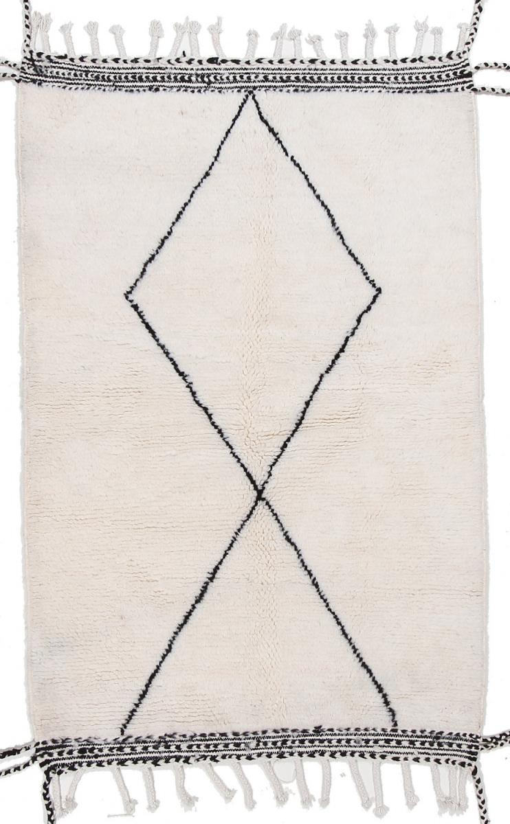 Nain Trading Tapis D'orient Berber Maroccan Beni Ourain 168x107 Gris/Beige (Maroc, Laine, Noué à la main)